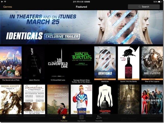 最新映画の予告編が観れるApple公式アプリ『iTunes Movie Trailers』