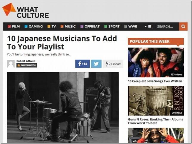 英What Cultureによる「プレイリストに追加すべき日本のミュージシャン10選」