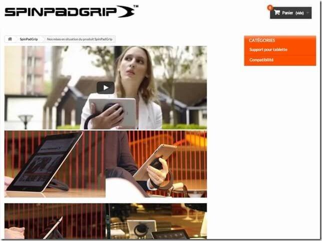 裸iPad好きに!デザイン性と使い勝手を両立したタブレットハンドル『スピンパッドグリップ』