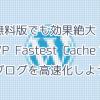 【WordPress】無料版でも効果絶大!WP Fastest Cacheでブログを高速化しよう